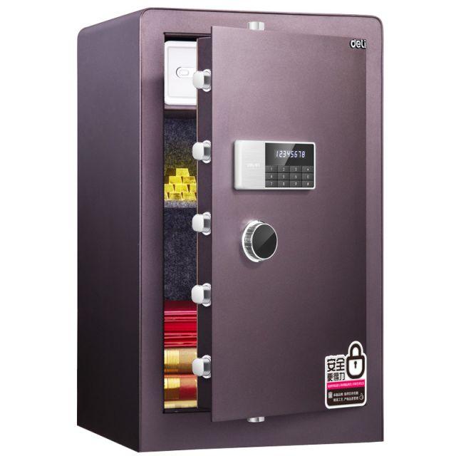 得力(deli) 4080電子密碼保管箱(酒紅)